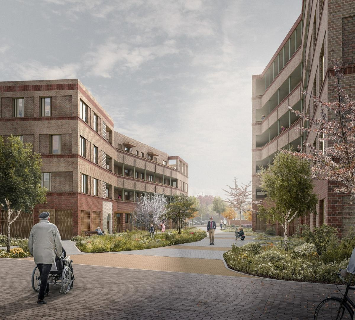 Computer generated image of how the new homes at Melfield Gardens may look