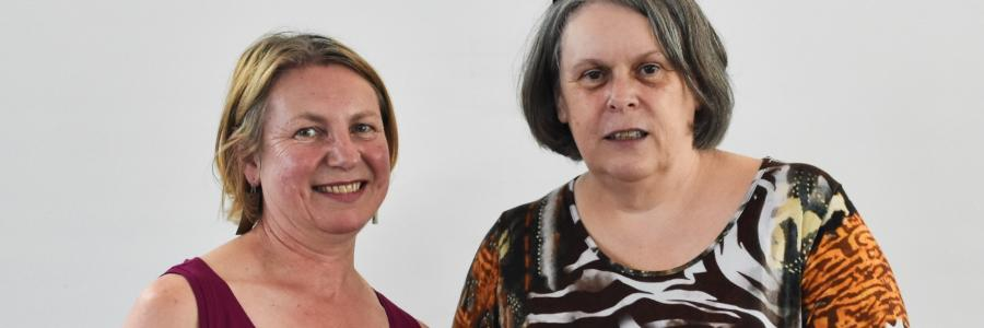 Kate Stephens with Alison Inman