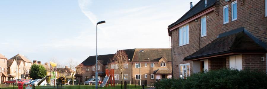 Photo of Phoenix Community Housing properties at the Meadows Estate on Beckenham Hill Road