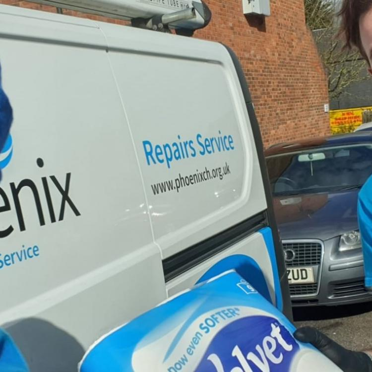 Photo of Phoenix Repairs Service operatives volunteering during the coronavirus pandemic