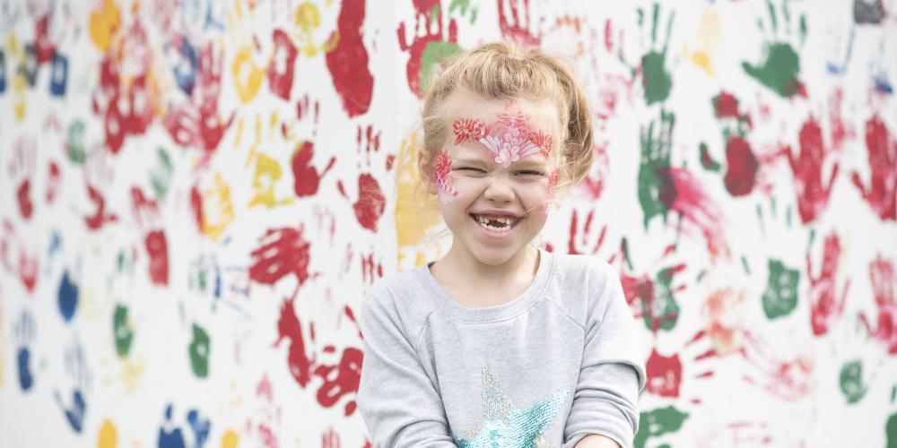 Photo of a child enjoying Summer Fun at Bellingham Green