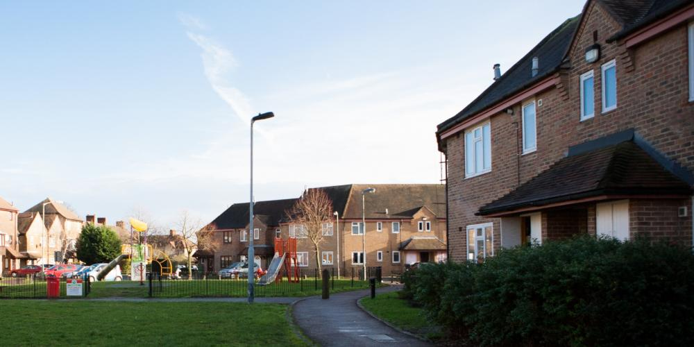 Photo of Phoenix Community Housing properties at the Meadows Estate on Beckenham Hill Road