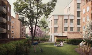 A drawing of what the new homes on the Ravensbourne Estate could look like