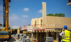 A picture of new homes being built