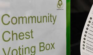 Community Chest voting box