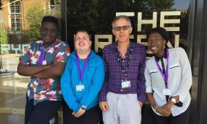 Phoenix Community Housing Chief Executive Jim Ripley with Project Search interns